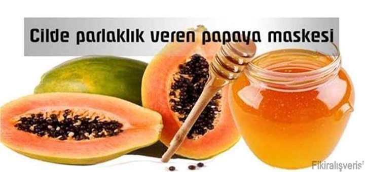 cilde parlaklik veren papaya maskesi